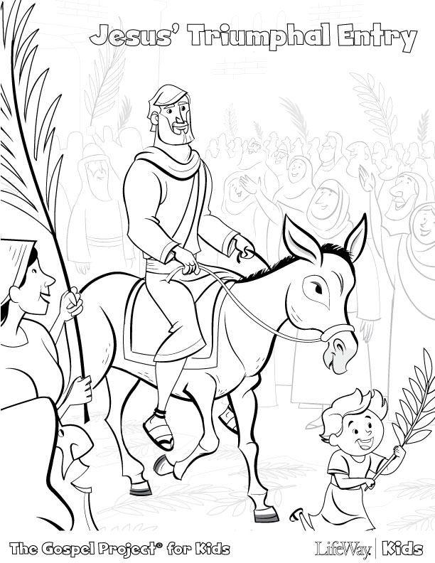 jesus triumphal entry coloring pages-#6