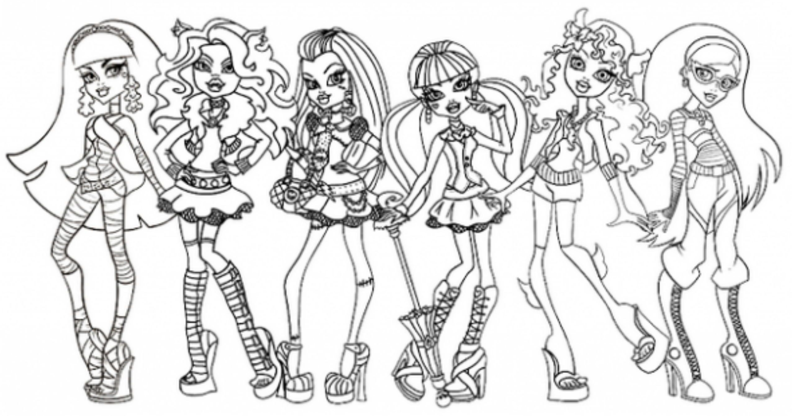monster high games for girls monster high doll dress up game - Monster High Coloring Pages Pdf