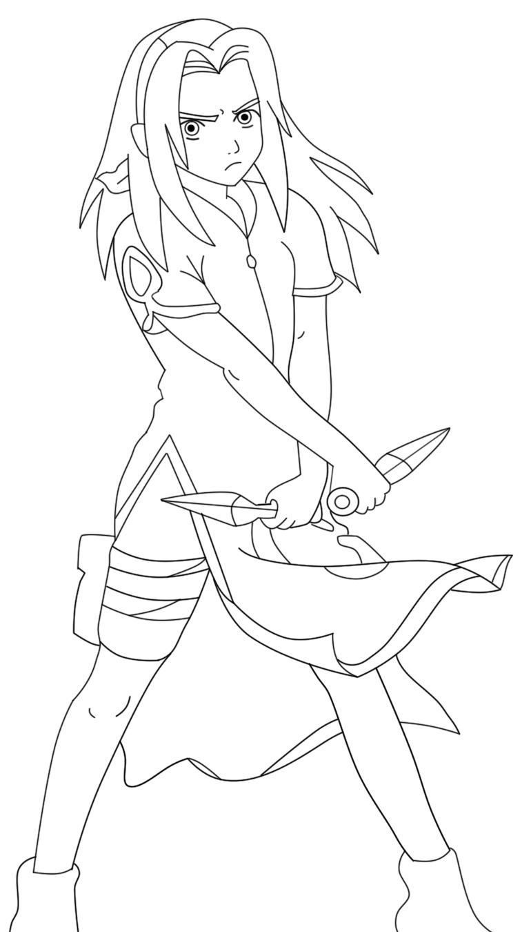 sakura haruno coloring pages - photo#7