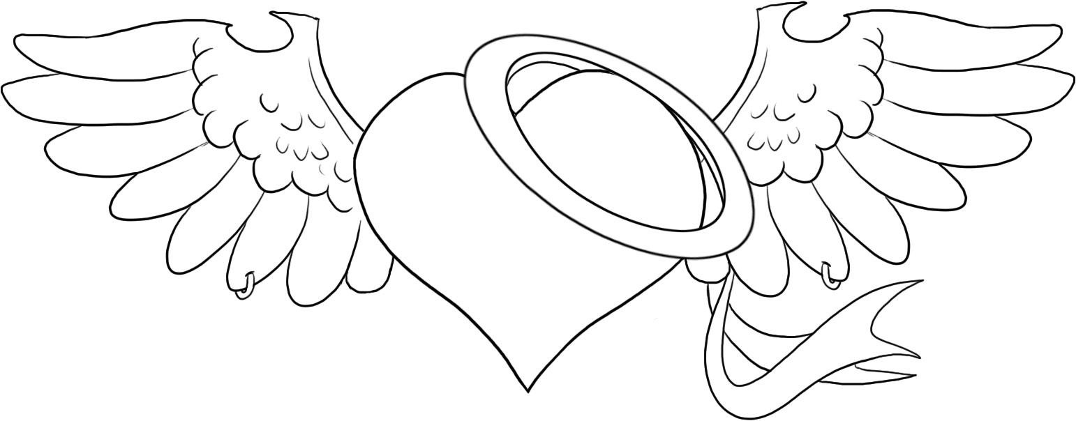 Adult Cute Heart With Wings Coloring Pages Gallery Images beauty heart with wings coloring pages az page gallery images