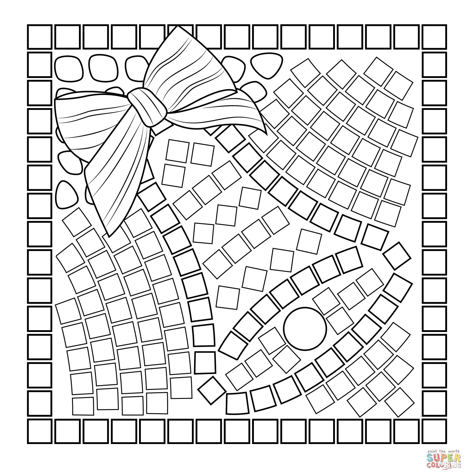 mosaics coloring pages - photo#14