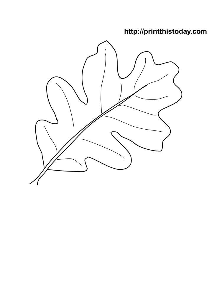 Oak Leaf Stencil Printable