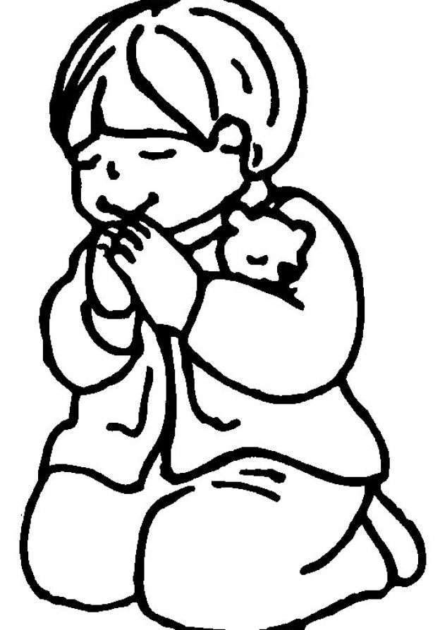 Printable praying hands coloring home for Praying boy coloring page