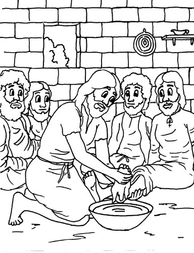 Jesus Disciples Coloring Page #6