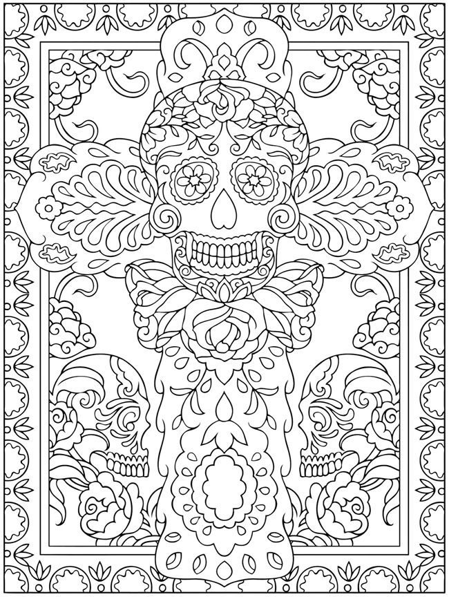 Dia De Los Muertos Printable - Coloring Pages For Kids And For ...