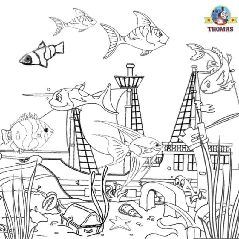 Under the Sea Coloring or Painting Pages | Coloring ...