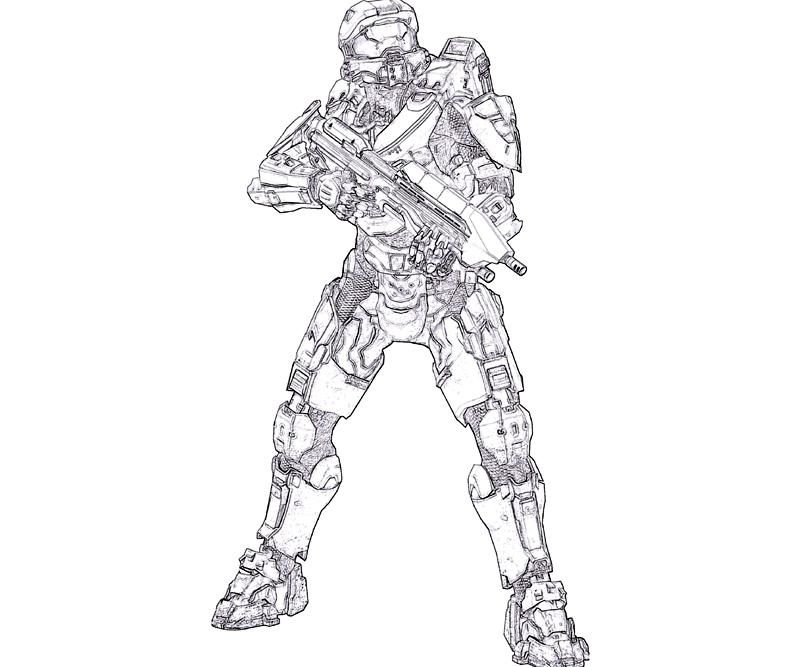 Free Printable Halo Coloring Pictures