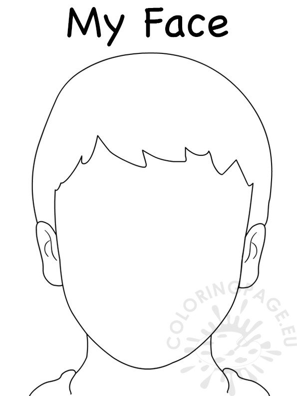 Face Blank Boy Template – Coloring Page