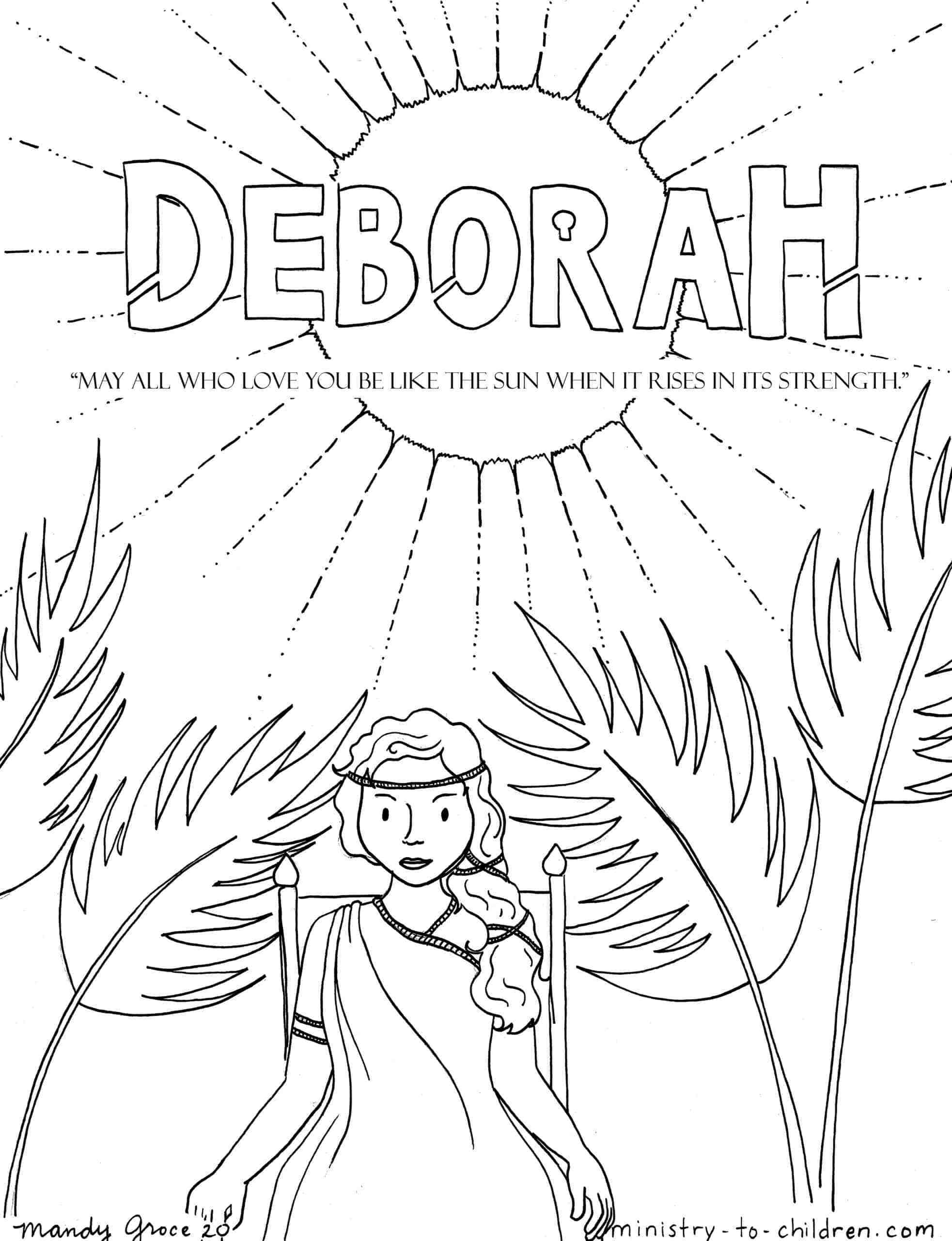 Deborah Coloring Page | Ministry-To-Children