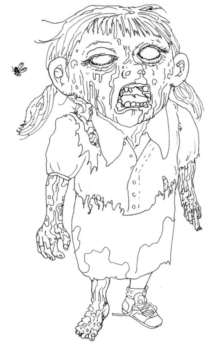 Cartoon zombie coloring pages coloring home for Zombie coloring pages