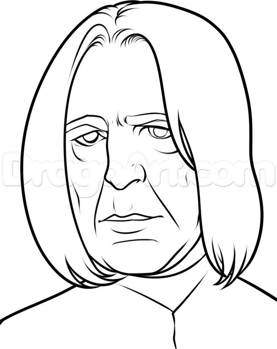 How to Draw Severus Snape Easy, Step by Step, Characters, Pop ...