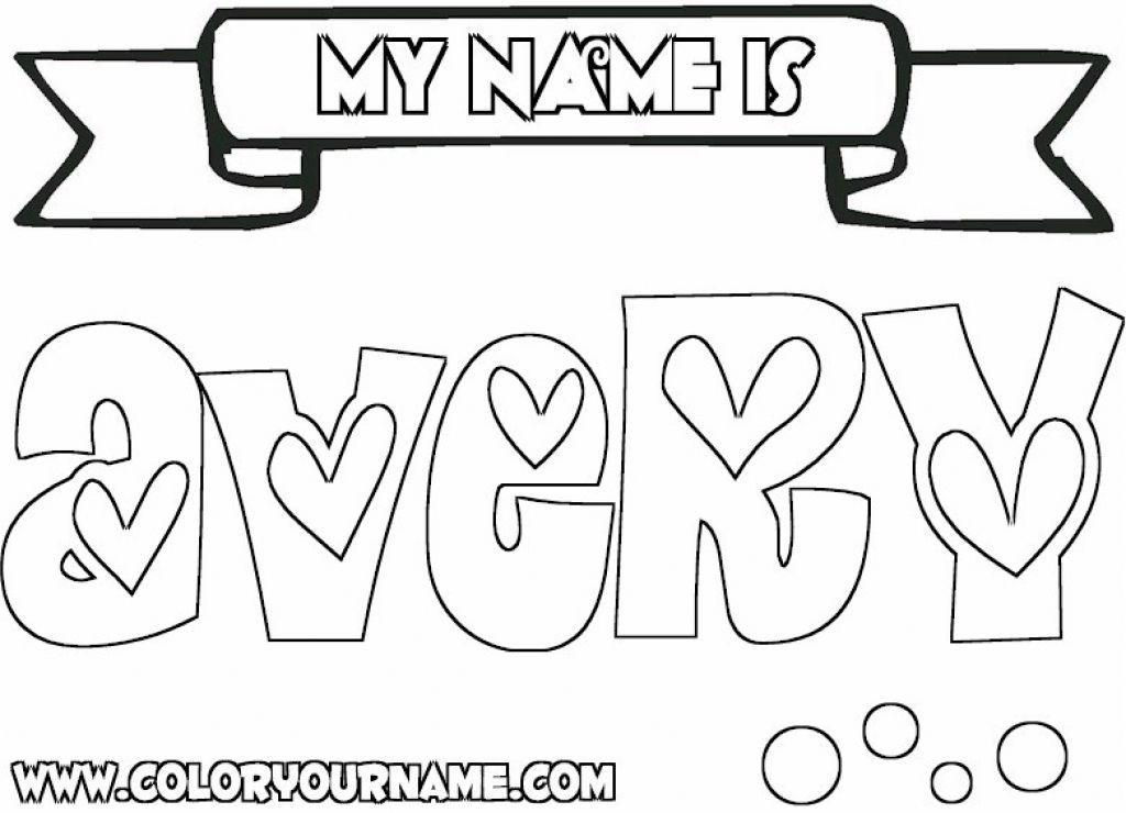 Coloring Pages Your Name Coloring