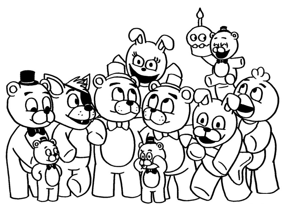 Fnaf Coloring Pages Coloring Home
