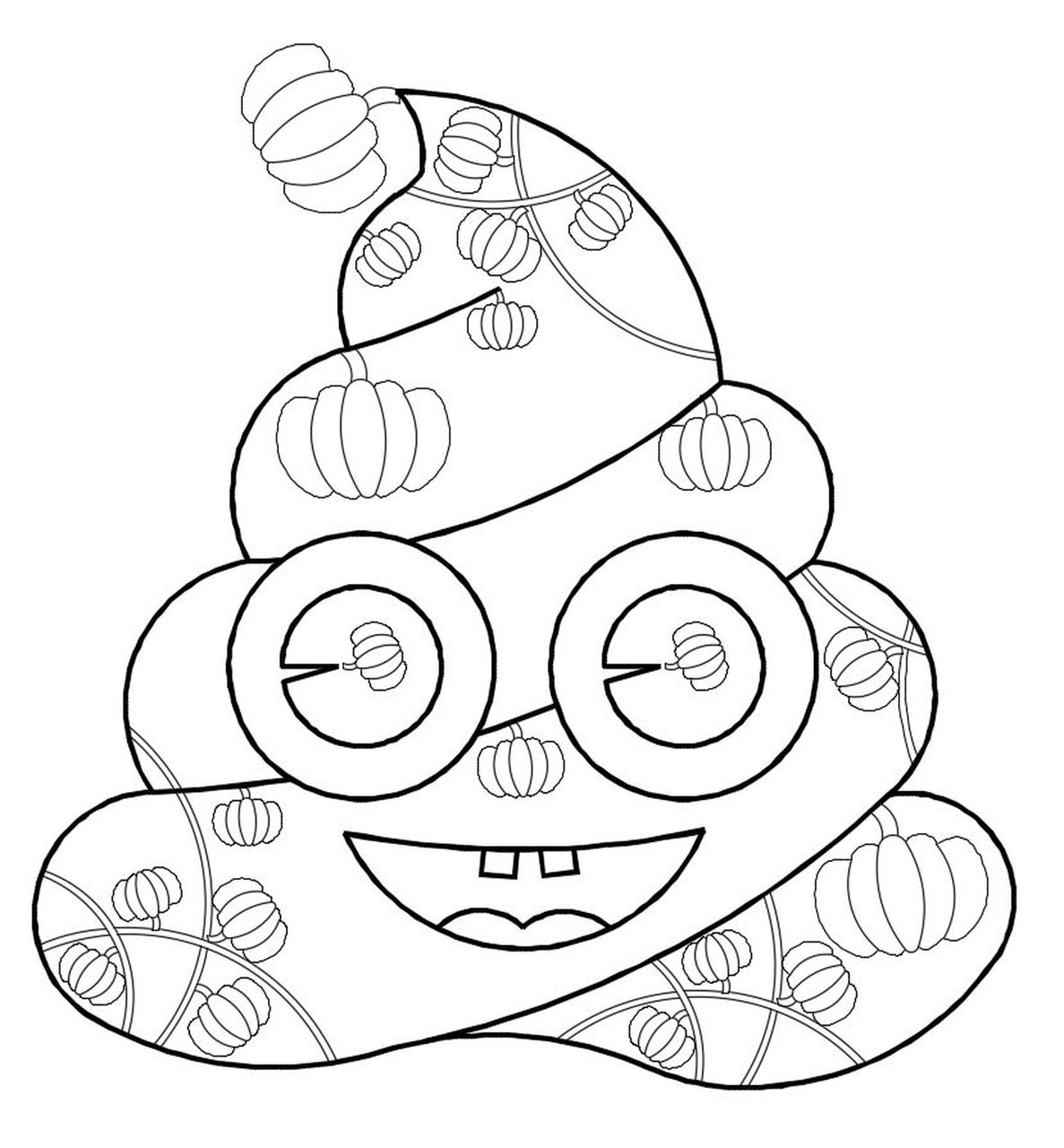Printable Poop Emoji Coloring -Dad - Pumpkin, Pumpkin coloring pages, Poop  Emoji coloring