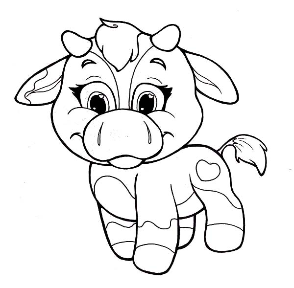 Coloring Pages Of A Cow - Coloring Home