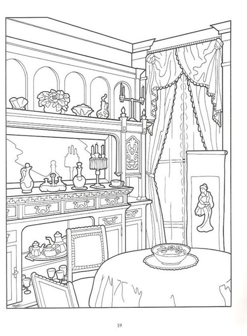 victorian mansion coloring pages - photo#12