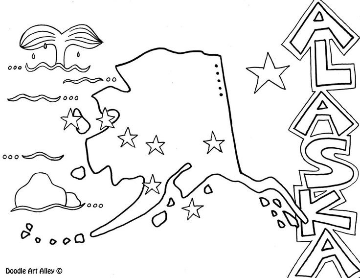 alaska coloring book pages - photo#2