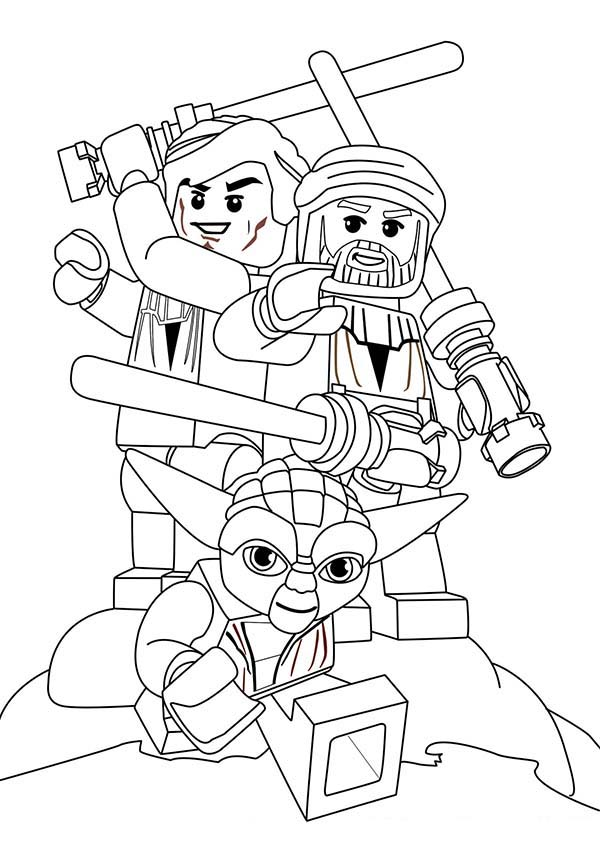 Lego Star Wars Coloring Pages For Kids