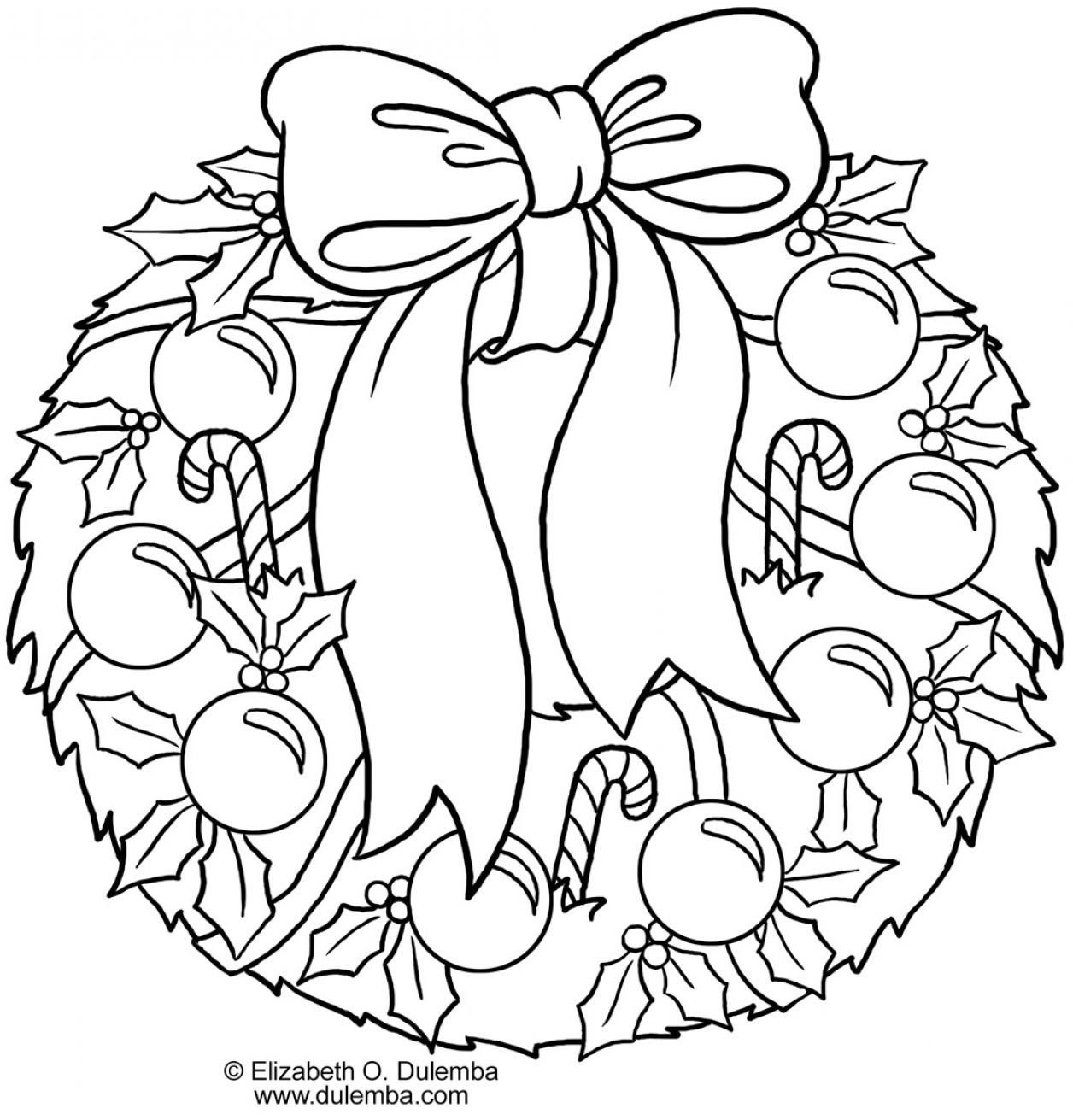 Of Wreaths Coloring Pages Wreaths Coloring Home