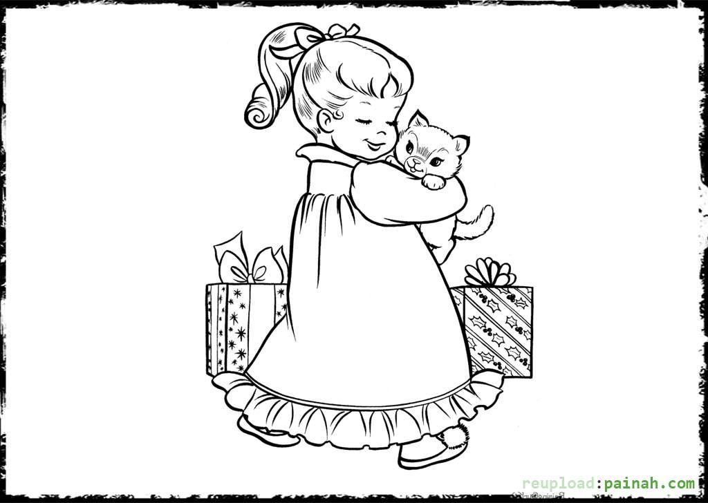 Puppy And Kitten Coloring Page - Coloring Home