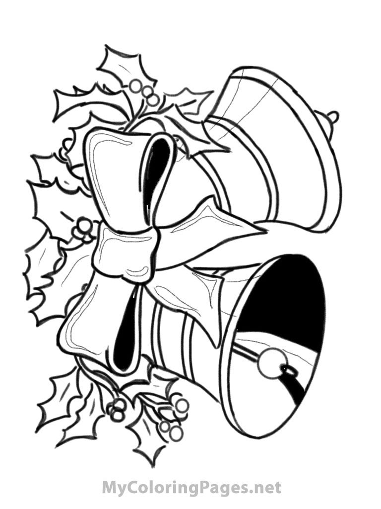 Coloring Pages Of Christmas Bells  Coloring Home
