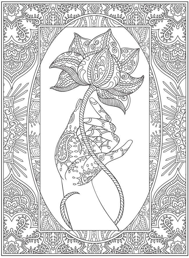Downloadable Adult Coloring Pages Fractals AZ Coloring Pages