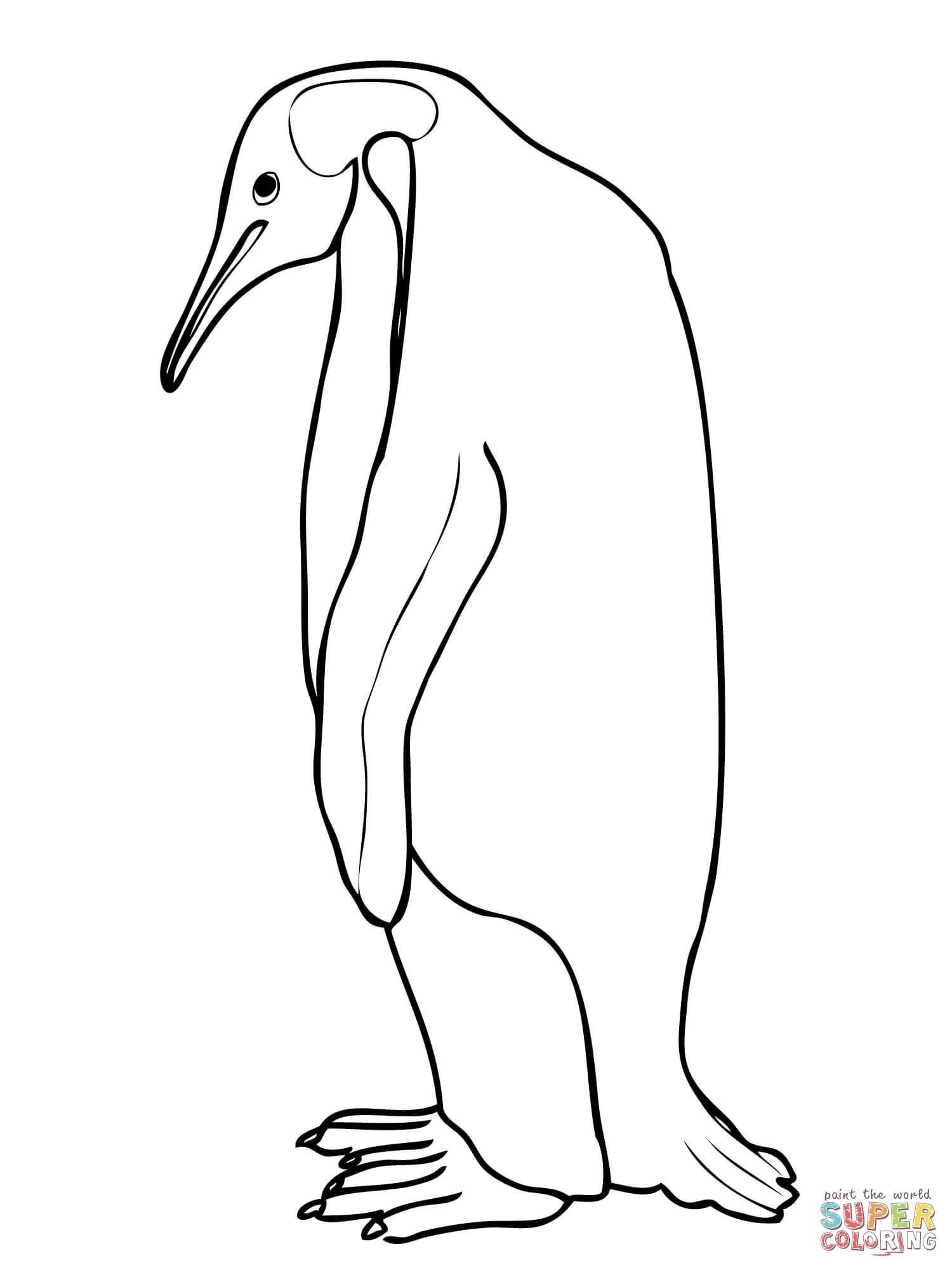emperor penguin coloring page  free printable coloring