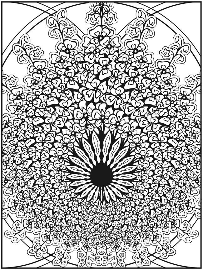 fractal coloring pages for kids - photo#42