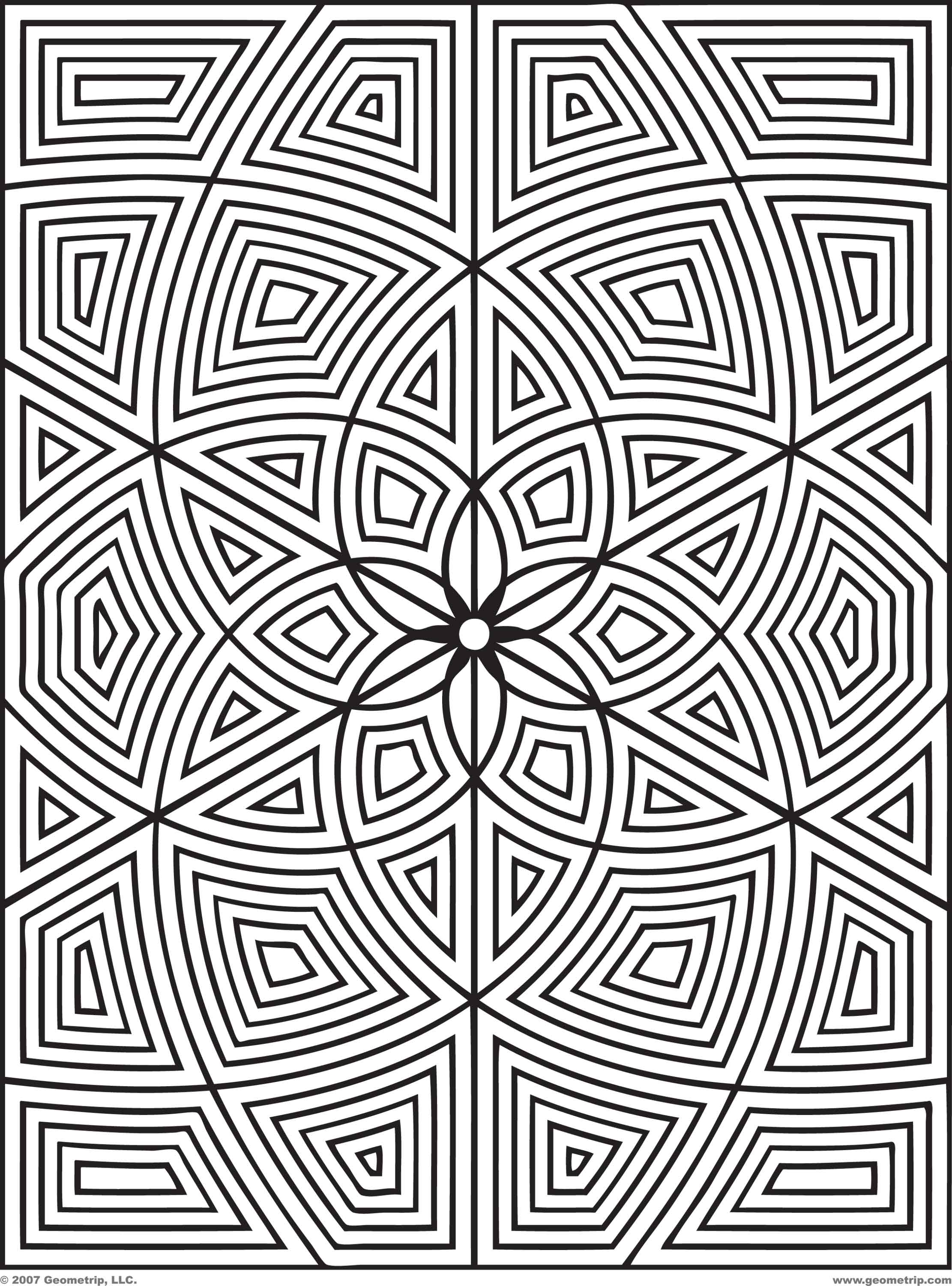complex geometric coloring pages printable - photo#10
