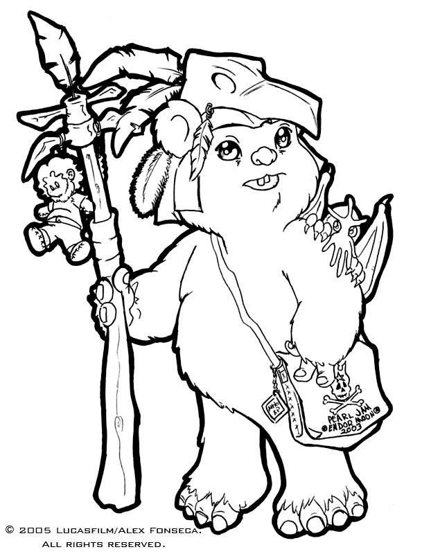 Star Wars Ewok Coloring Pages - Coloring Home