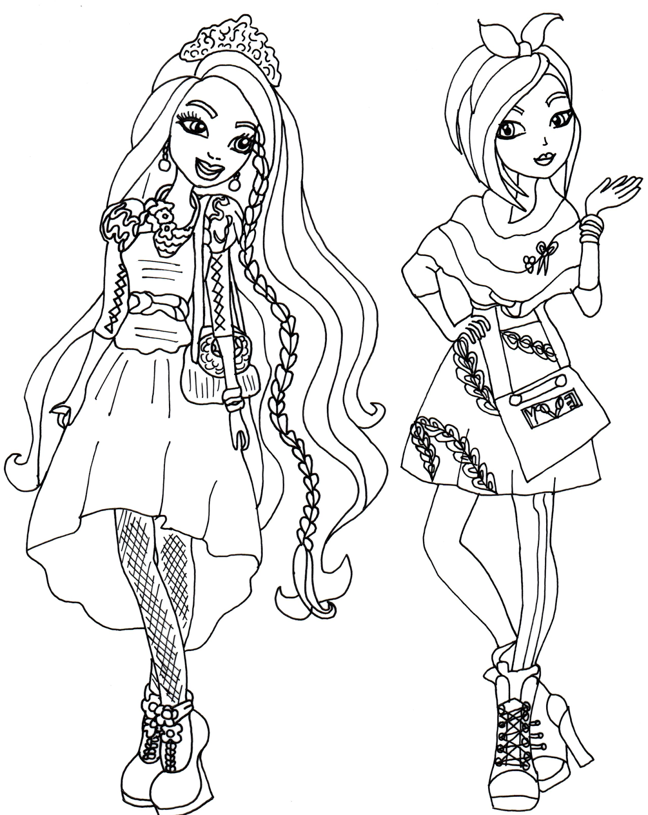 Ever after high coloring pages coloring home for Salvia da colorare