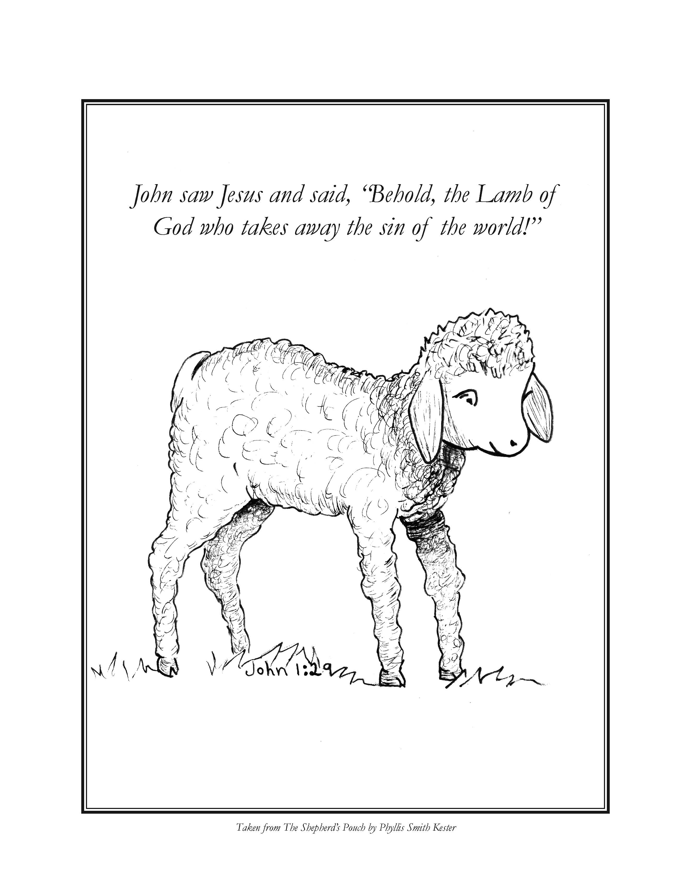 Christmas Lamb Coloring Page - Coloring Pages For All Ages