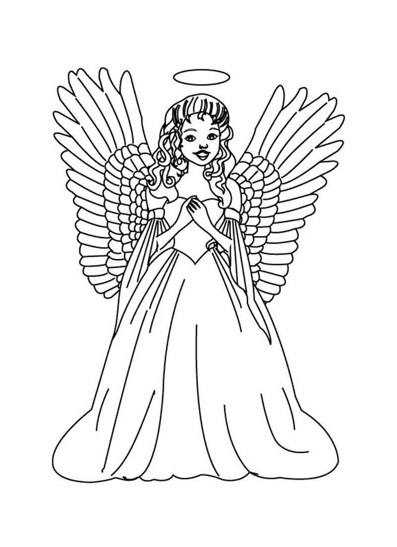 Male guardian angel coloring page az coloring pages for Coloring page angel
