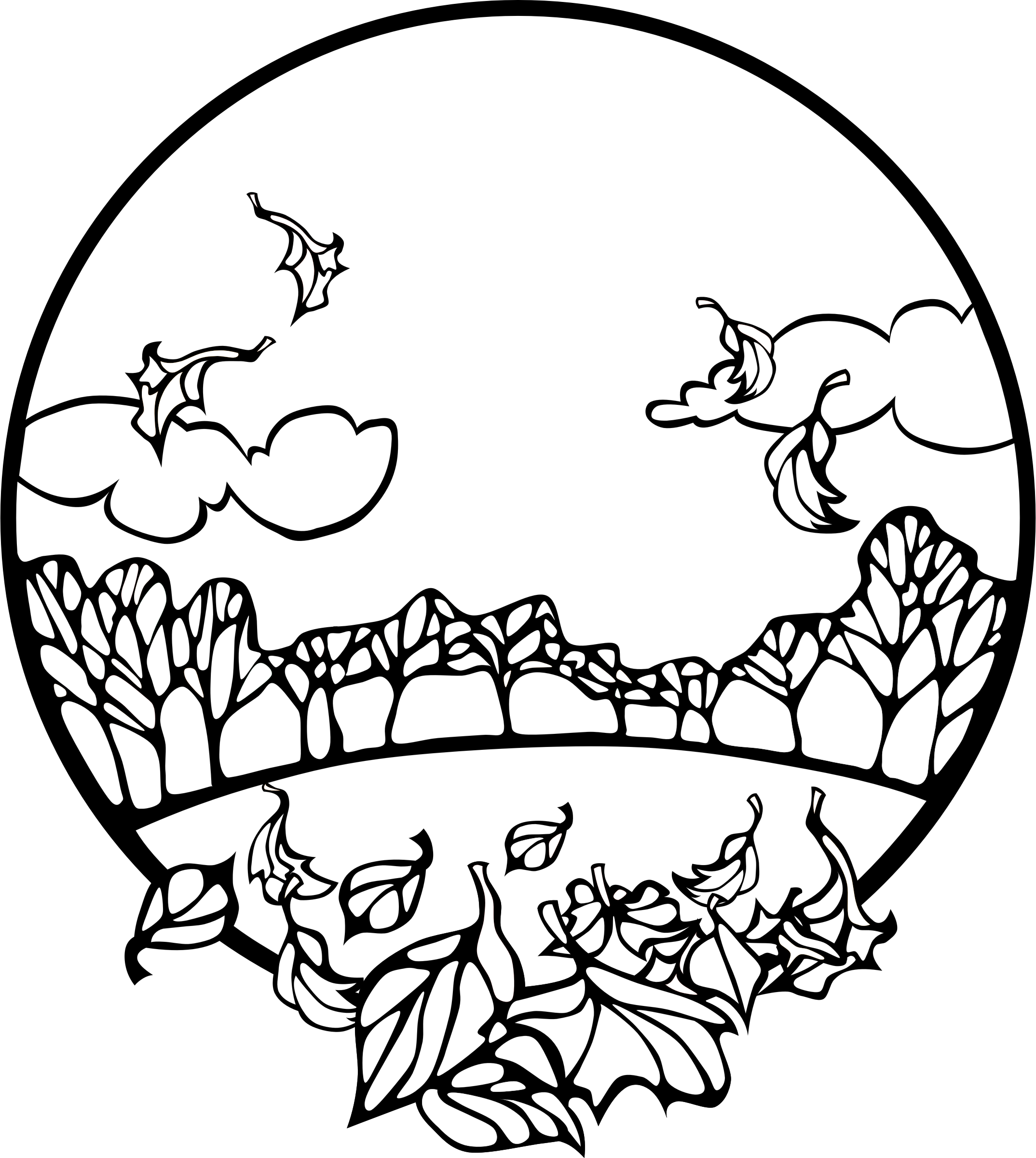 Coloring Pages Of Fall Scenes Coloring Home