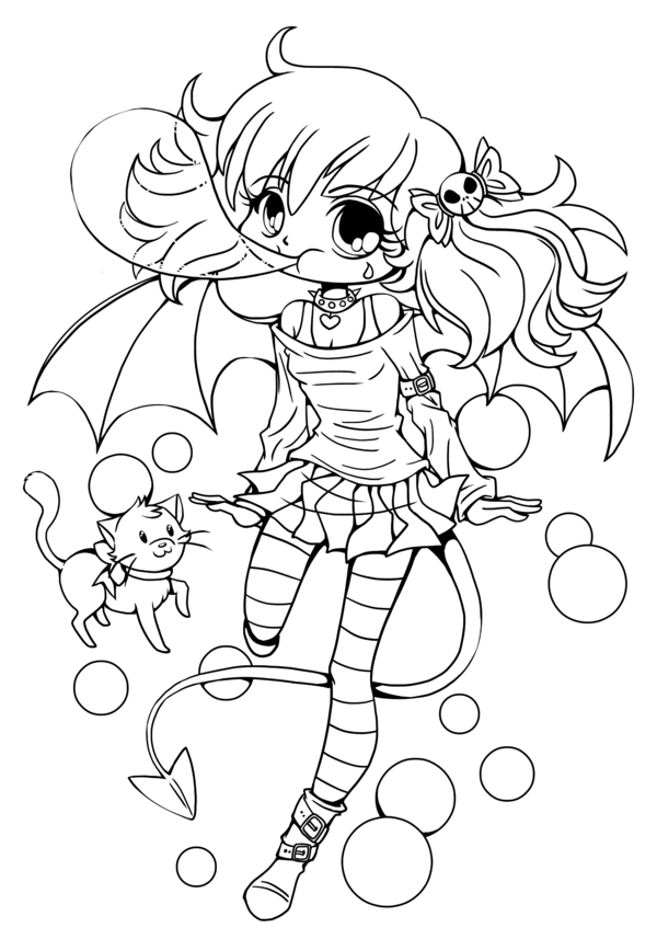 Chibi Anime Coloring Pages