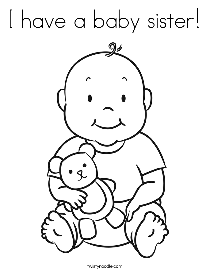Big Sister Coloring Page - Coloring Home