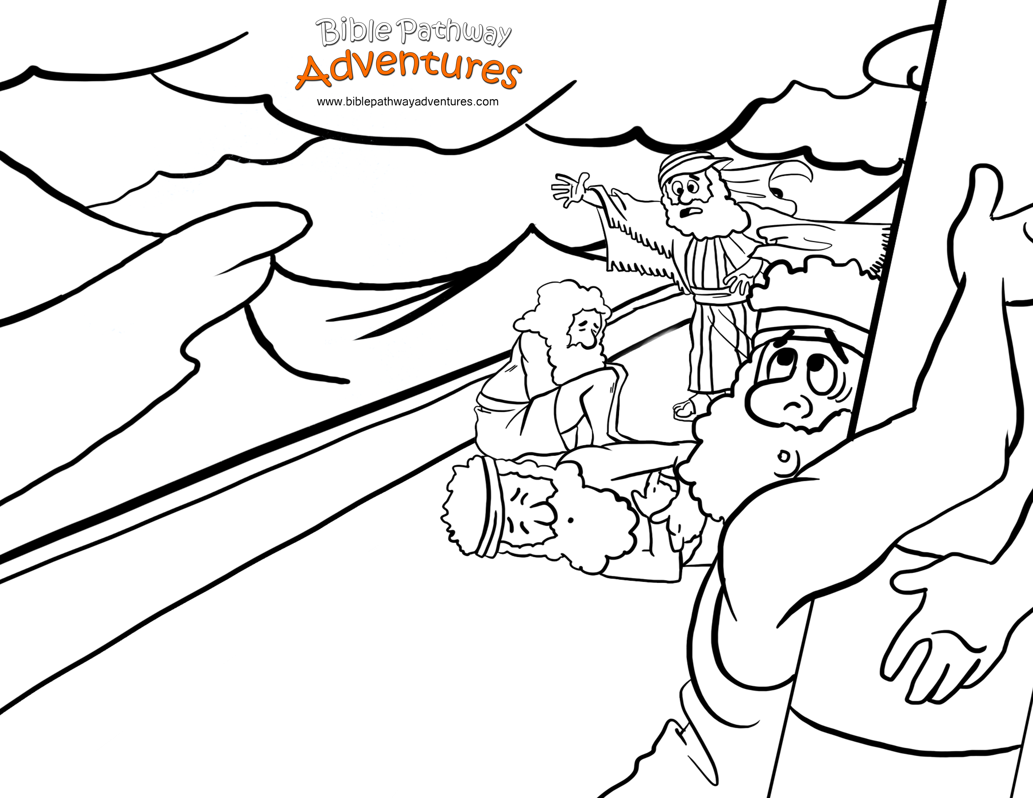 Childrens coloring sheet of saul and ananias - Paul