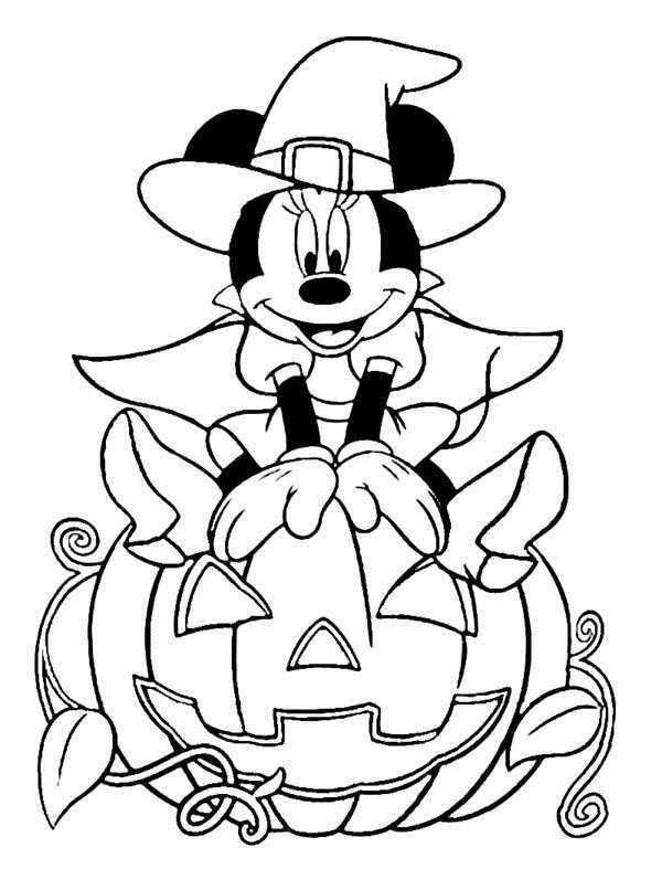 Free Printable Disney Halloween Coloring Pages - Coloring Home