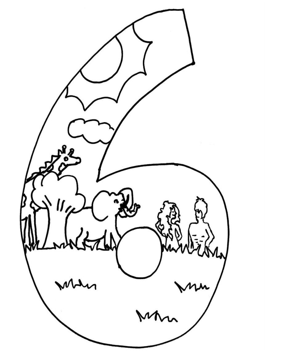 10 Pics of Days Of Creation Coloring Pages - Gods 7 Days of ...