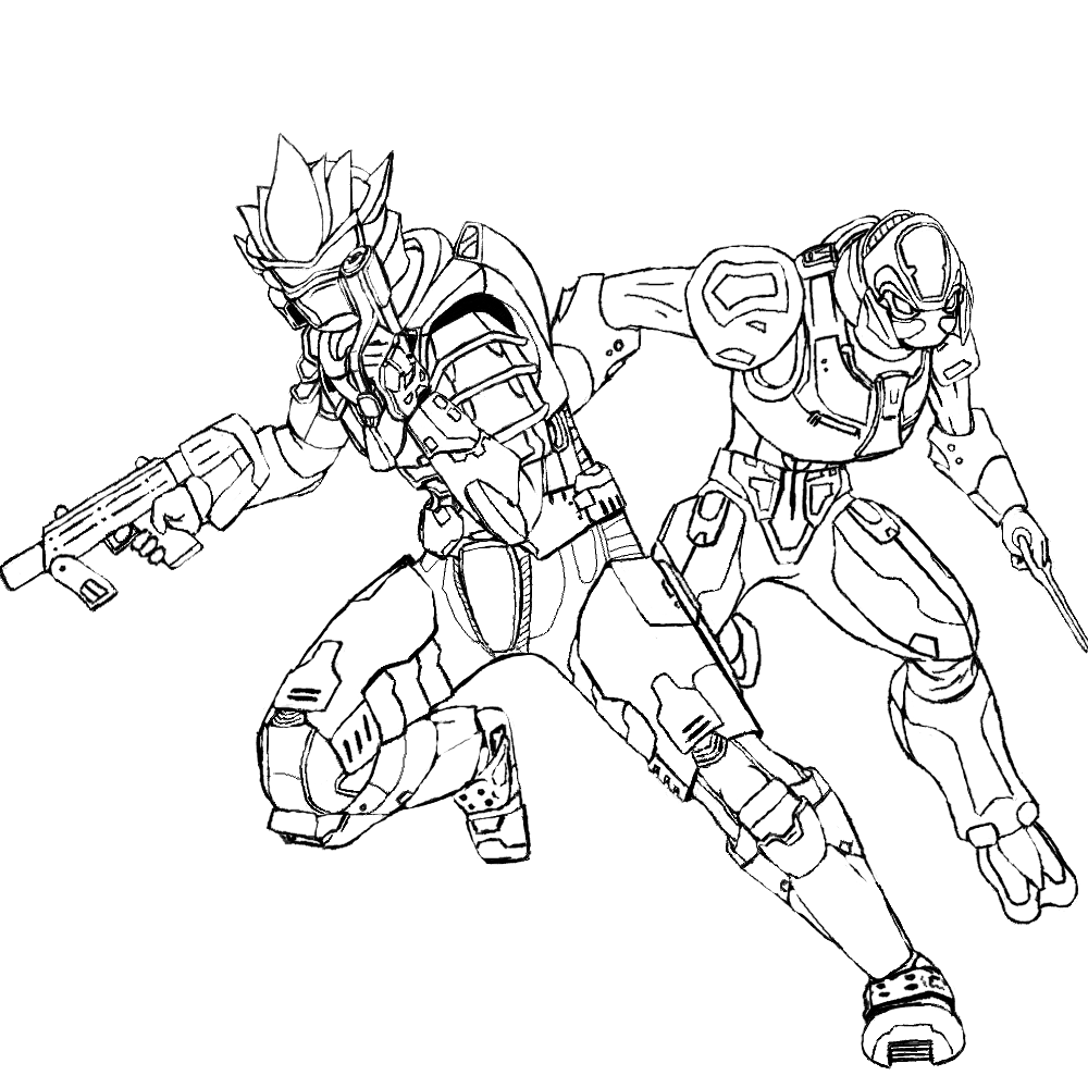 Halo 4 aliens free coloring pages for Halo 3 coloring pages
