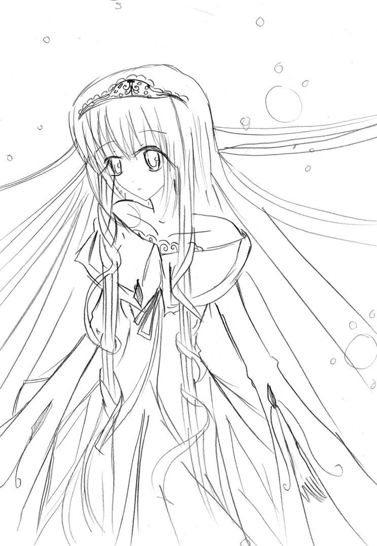 anamae coloring book pages | Cute Anime Face Girls Coloring Pages - Coloring Home