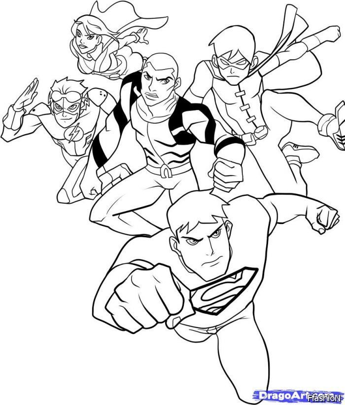 Young Justice Coloring Sheets High Quality Coloring Pages Coloring Home