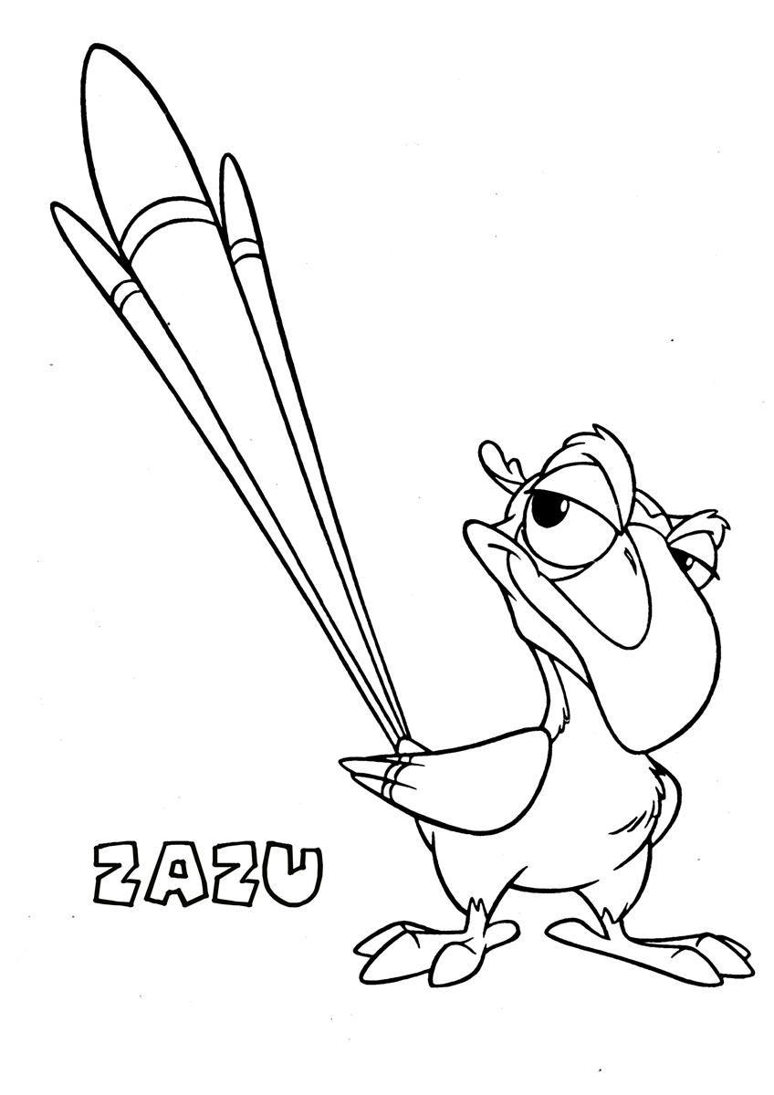 Li lion king coloring games online free - 10 Pics Of Lion King Zazu Coloring Pages Zazu Lion King Coloring