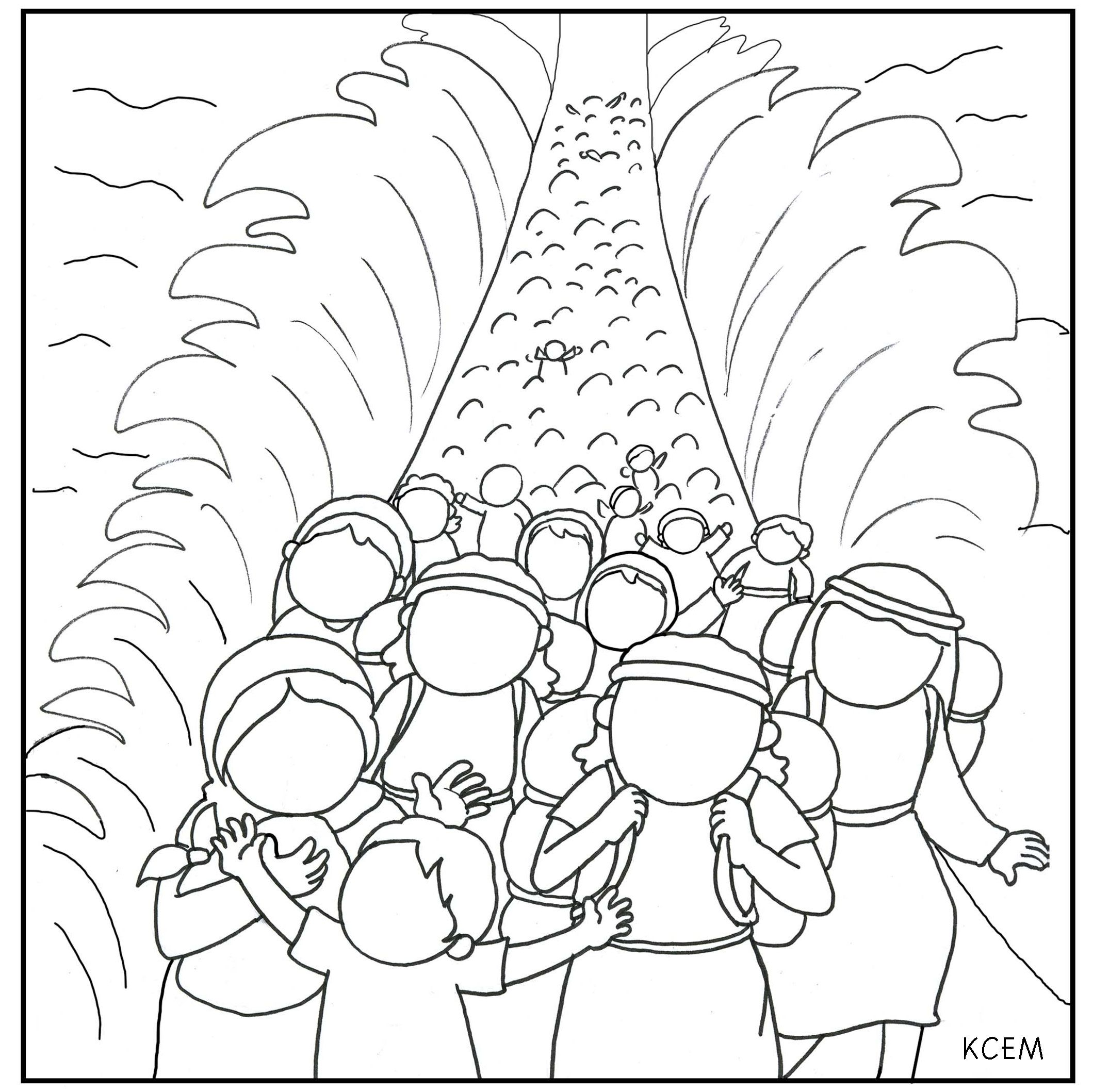 Coloring pages moses parts the red sea - Moses Coloring Pages Forcoloringpages Com