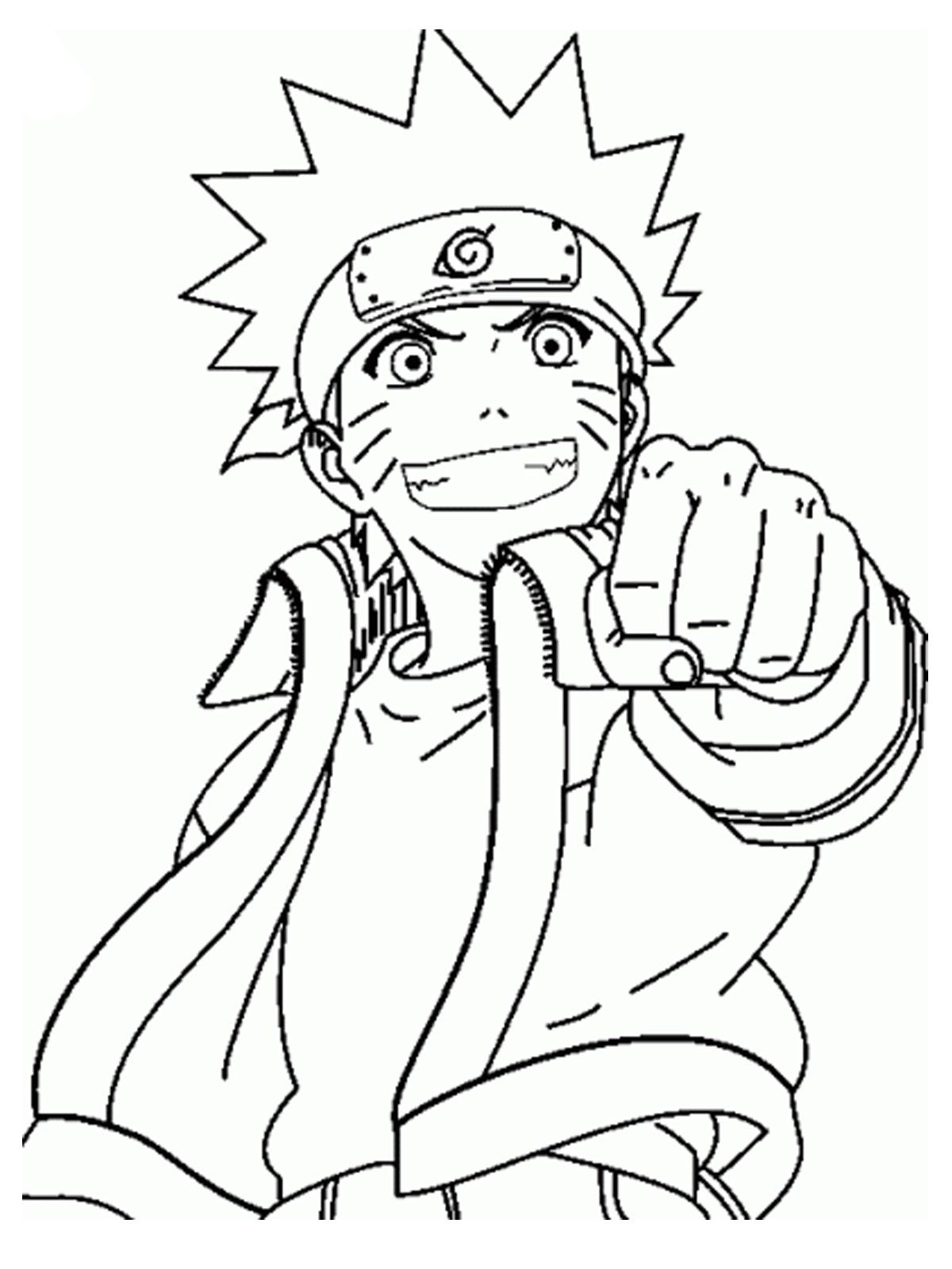 Coloring Pages Of Naruto - Best Image Coloring Page