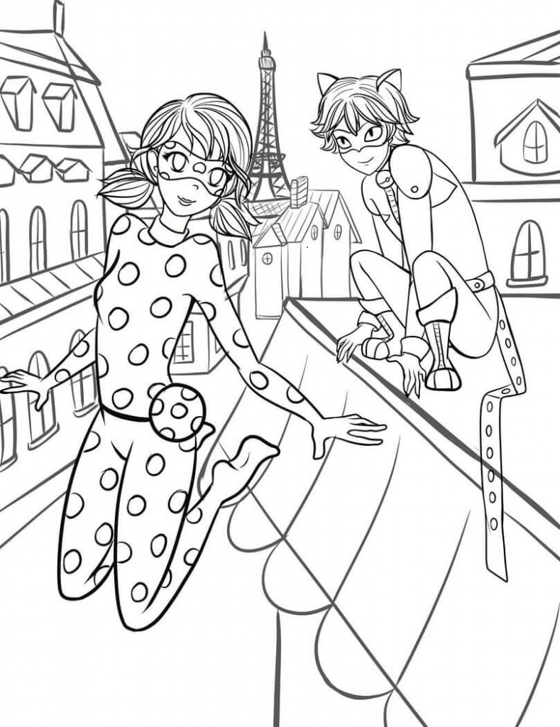 Coloring Book : Coloring Miraculous Ladybugree Printable And Cat ...