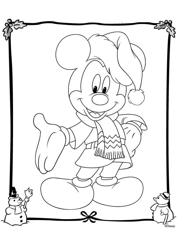 Kids-n-fun.com | 48 coloring pages of Christmas Disney