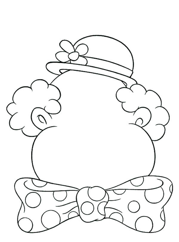 Clown Coloring Pages Pdf : Clown blank face coloring home
