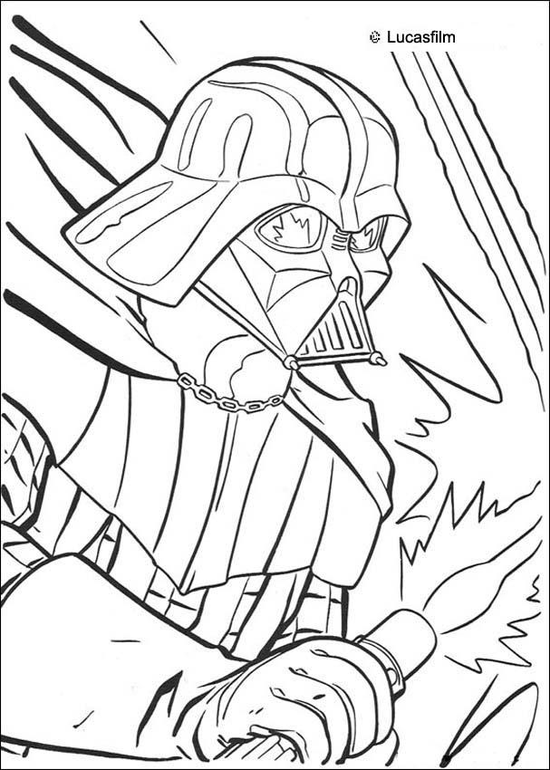 STAR WARS coloring pages - Portrait of Darth Vader