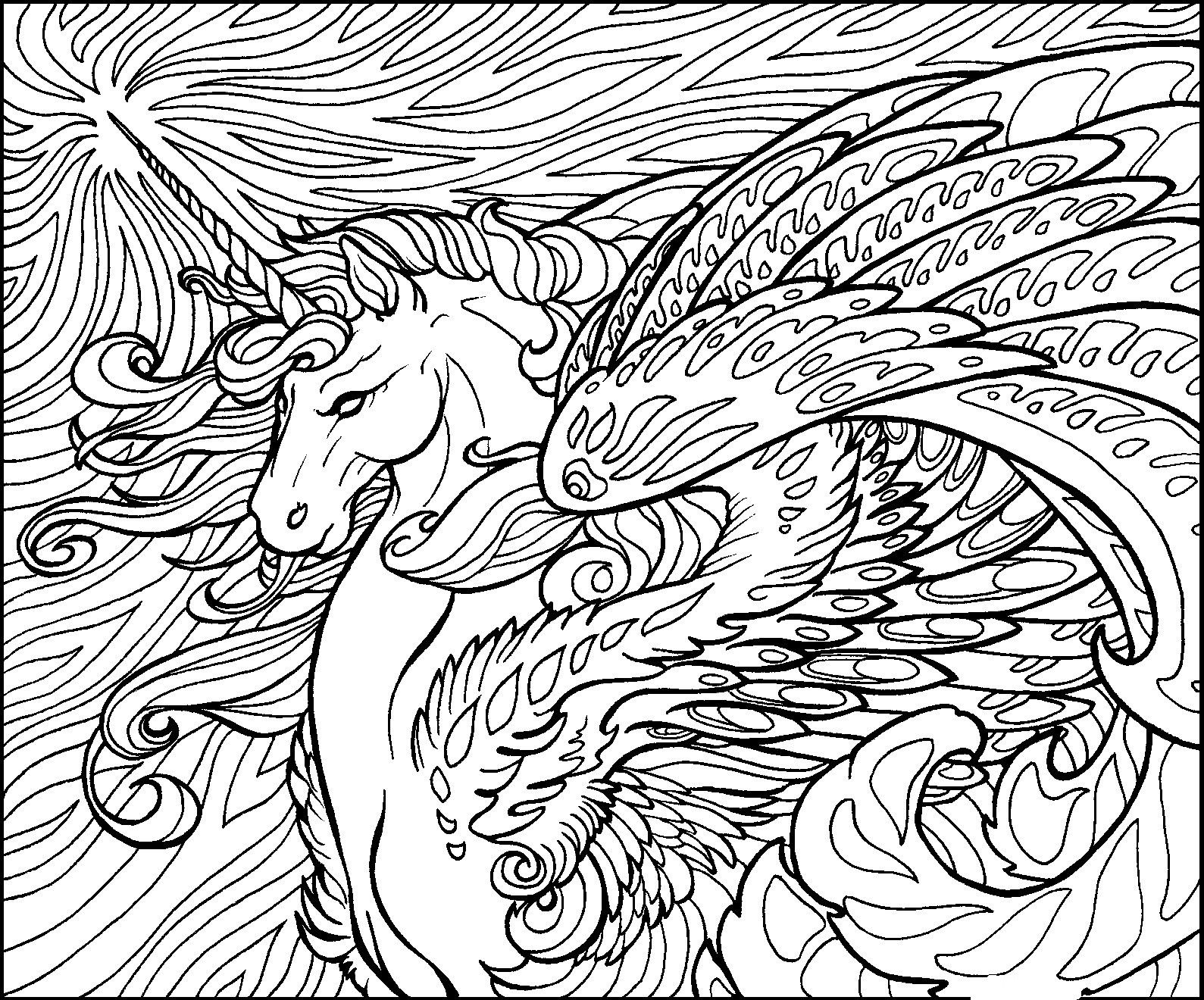 Detailed For Adults - Coloring Pages for Kids and for Adults